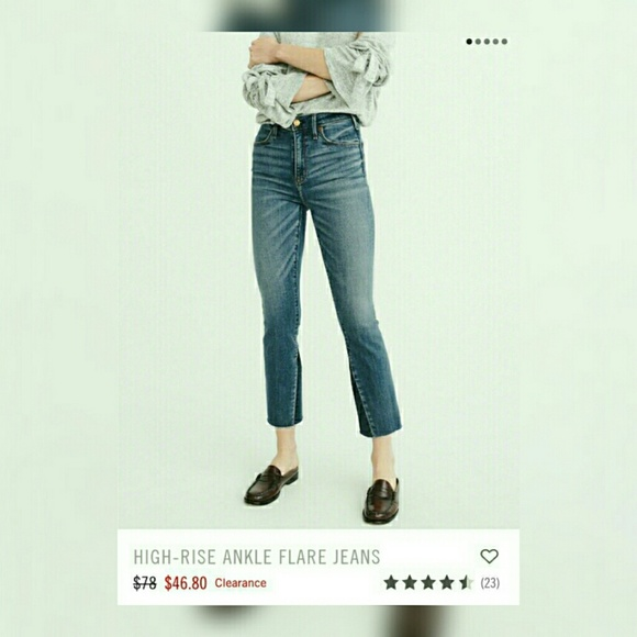 dd608b07a6c7 🍉NWT A F High Rise Ankle Flare Jeans🍉